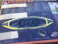 Explorer K2 2 man kayak with extras