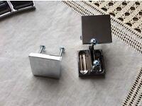 Door knobs, polished chrome