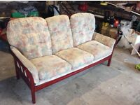 Quality three seater sofa in chenille fabric