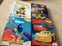 Kids busy books and model books,cars 3,minions,dory and dinosaurs