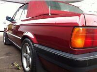 1992 BMW 318i CONVERTIBLE E30 CALYPSO RED