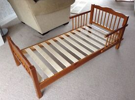 Toddler Bed - wooden bed frame