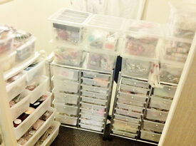 Craft & jewellery - business stock for sale, thousands of beads, buttons, ribbons, rings, bracelets