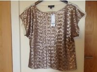 Warehouse golden top size 12 new with tag £55