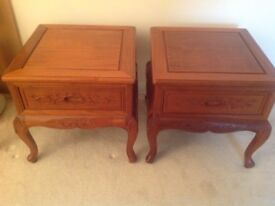 Two matching side tables £30
