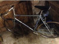 Large vintage racing bike. Viking warlord