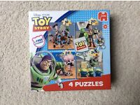 Toy Story Jigsaw Puzzles 4 in One Box