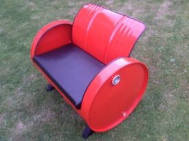 Oil drum sofa style chair