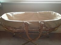 Newborn bundle, Moses basket/ stand, steriliser, bedding, bath seat, slings (x2)