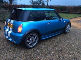 Mini Cooper, 1.6 with body kit, and super chip swap for 4x4