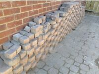 Block paving stones and red house bricks free