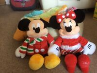 Micky and mini mouse soft toys