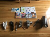 Black Nintendo wii with games and accessories!