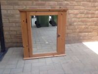 Pine bathroom cabinet - IKEA mirrored cabinet with 3 interior shelves