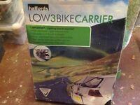 Low 3 bike carrier ( Halfords) vgc