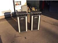 Peavey t-300 professional PA speakers