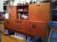 G-plan retro/vintage furniture (sideboard/cocktail cabinet and wardrobe)