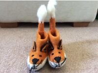 Handmade fox felt boots/slippers