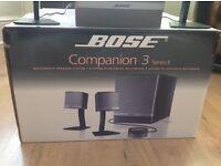 Bose multimedia speaker system.