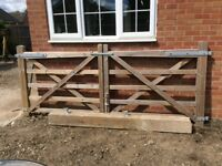 Solid Oak Wood Gates for Drive way