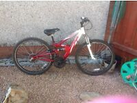 Boys/ girls Apollo fs 26 mountain bike full suspension vgc