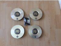 Ford RS Diamond Cut Alloy Wheel Centre Caps