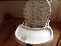 BabyStart Highchair - excellent condition nearly new.