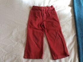 Ralph Lauren cords, dark pink, age 4, v good condition