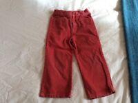 Ralph Lauren cords, dark pink, age 4, v good condition