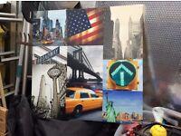 New York multi shot canvas