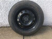 Five steel wheels with tyres