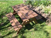 Children's garden wooden bench
