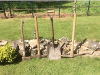 PICK AXES AND SHOVEL