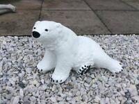 Concrete garden polar bear ornament