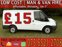 Cheap Man with Van Hire - House/Flat/Furniture Removal Moving Collection Delivery Motorbike Recovery