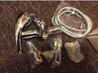 Bath shower mixer with overhead, new