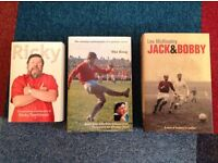 Bundle of 6 mixed books- biography of Ricky Tomlinson, Barry John, and fiction