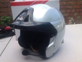 Stilo helmet HANS device rally comp safira race car
