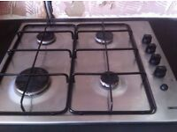 Zanussi stainless steel four ring gas hob