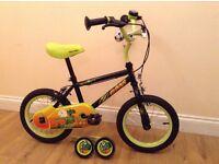 Boys Apollo Claws (dinosaur) bike-Halfords-14inch wheels; incl stabilisers