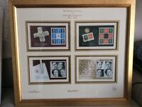 Limited Edition Framed Royal Mail Stamps