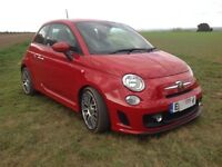 Fiat 500 Abarth, 1.4 T-jet (135) 2014,Red, 27k, excellent condition