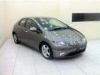 HONDA CIVIC 2.2 i-CTDi ES HATCHBACK 5dr-PAN ROOF-12 MONTH MOT-12 MONTH WARRANTY- £0 DEPOSIT FINANCE