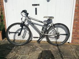 "Ladies mountain bike, 26"" wheels, suspension f&r 21 gears"