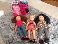 Designer Friends dolls with accessories