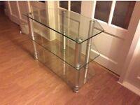 Tv unit (glass - 3 shelves)