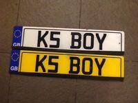 Personalised number plate