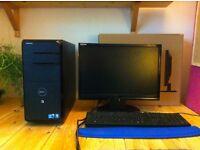 """Dell Desktop PC (Quad Core i5) with 10.5"""" widescreen digital monitor"""