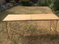Wallpapering table