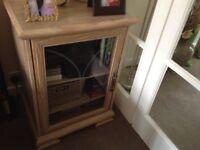 Limed oak hifi/storage unit